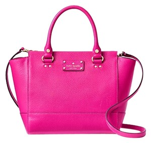 Kate Spade Leather Satchel in SweetHeart Pink