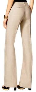 Michael Kors Linen Casual Boot Cut Pants Natural