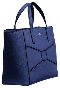 Kate Spade Leather Tote in French Navy