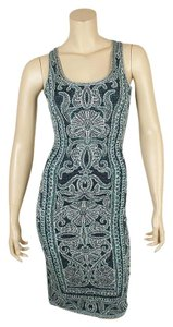 Hervé Leger Peacock Cocktail Dress