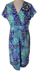 Boden Flowers Floral Knit Stretch Dress