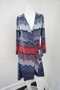 BCBGMAXAZRIA short dress Red & Blue Wrap Adele on Tradesy