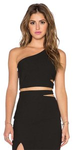 Elizabeth and James Cut-out Crop Seperates Top Black