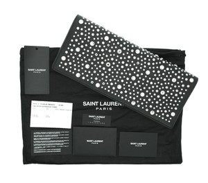 Saint Laurent Studs Black Clutch