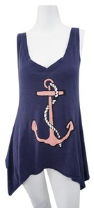 Wildfox Nautical Theme T Shirt Blue Nautical