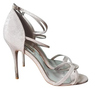 Badgley Mischka Strappy Heel Silver Formal