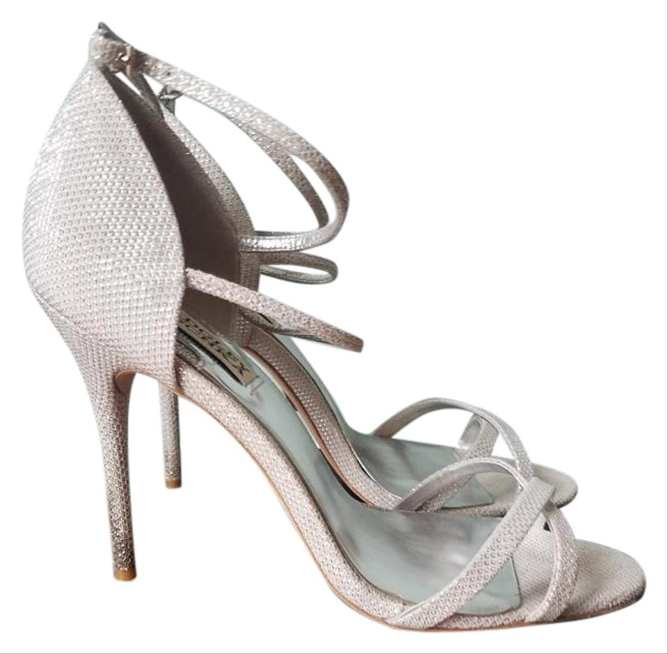 e85c6bbe3e2 Badgley Mischka Silver Dominique Slimet Formal Shoes Size US 7.5 ...