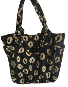 Marc by Marc Jacobs Lil Nylon Tote in Lip Print - Black and Off-White