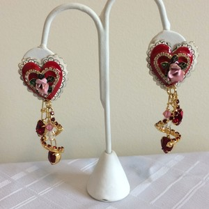 Lunch at the Ritz valentines day earrings