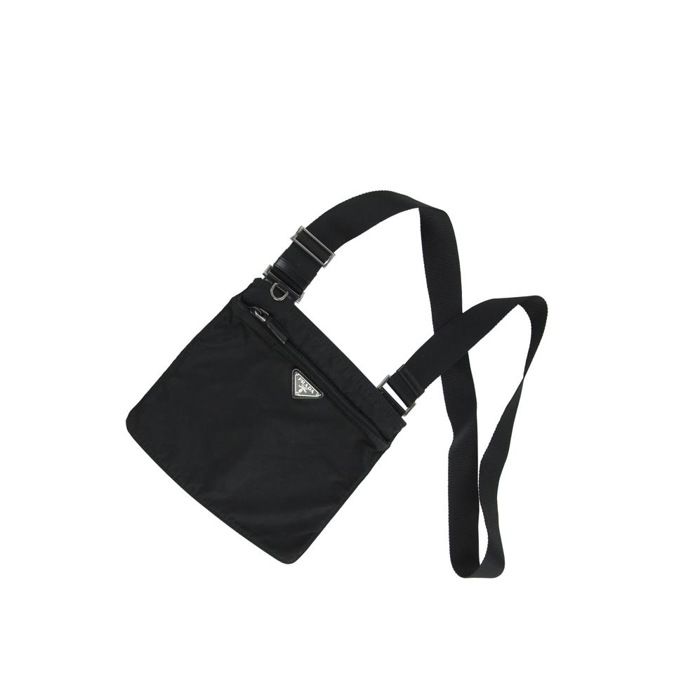 5e23ceea3565fe ... discount prada bandoliera crossbody black messenger bag 3c394 a0749 ...