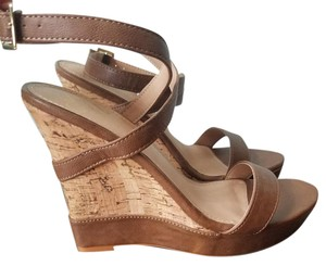 Colin Stuart Tan Brown Strappy Brown/tan Wedges