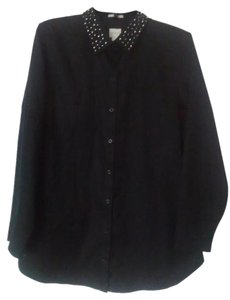 Chico's Button Down Shirt Black