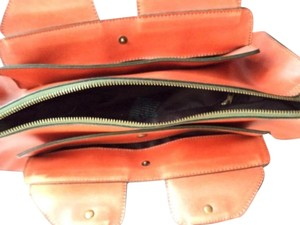 Matt and Nat Vintage Faux Leather Vegan Satchel in Art Deco Orange Tan