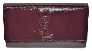 Saint Laurent Yves maroon Clutch
