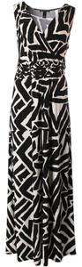 Black & White Maxi Dress by INC International Concepts Ethnic Resort