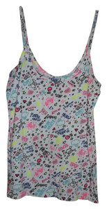 No Boundaries Skulls Hearts Flowers Top Multicolor