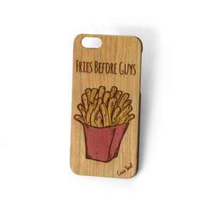 Case Yard NEW Cherry Wood iPhone Case with Fries before Guys Design, iPhone 7