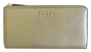 Gucci Nib Gucci Wallet Clutch Cellarius Metallic Golden Beige