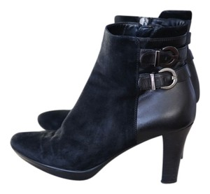 Aquatalia by Marvin K Leather Suede Black Boots