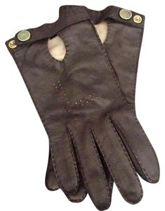 Les Copains New Les Copains leather gloves size 6.5 racing glove style