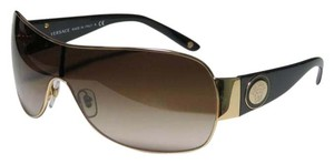 Versace SOLD!!!! Versace Gold/Black Medusa Sunglasses VE2101-36