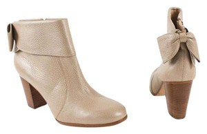 Kate Spade Bow Leather Ankle Stone Boots