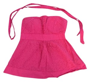 Zawary Strapless Sweetheart Padded Top Pink