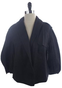 Rachel Roy Midnight Cropped Trench Blue Jacket