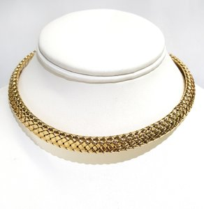 Tiffany & Co. STUNNING Vintage Heavy 18K Yellow Gold Collar Necklace