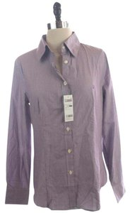 United Colors of Benetton Striped Down Button Down Shirt Purple