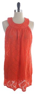 Laundry by Shelli Segal Eyelet Top Orange