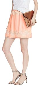 Banana Republic Lace Mini Mini Skirt Peach