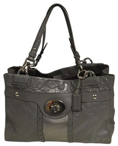 Coach Tote in Gray Silver