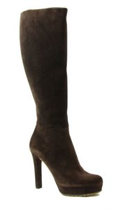 Gucci 323847 Womens Platform Brown Boots