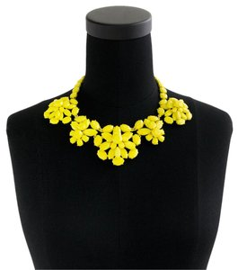 J.Crew Jcrew Crystal Cluster Necklace Yellow