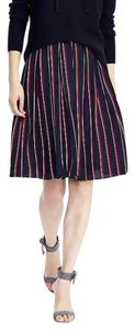 Banana Republic Striped Navy Pleated Skirt Multi-Color