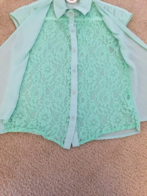 Available Sheer Lace Top Sheer green