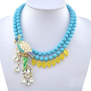 J.Crew Jcrew Beaded Parrot Necklace