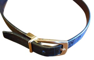 Two In One Black Or Brown Reversible Belt Gold Hardware 27-31 Small