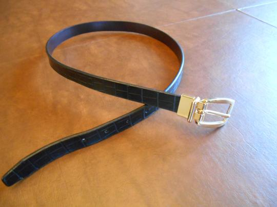 Other Two In One Black Or Brown Reversible Belt Gold Hardware 27-31 Small