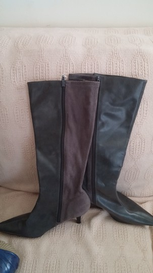 Predictions Grey leather in front -Grey suede on back of boot Boots