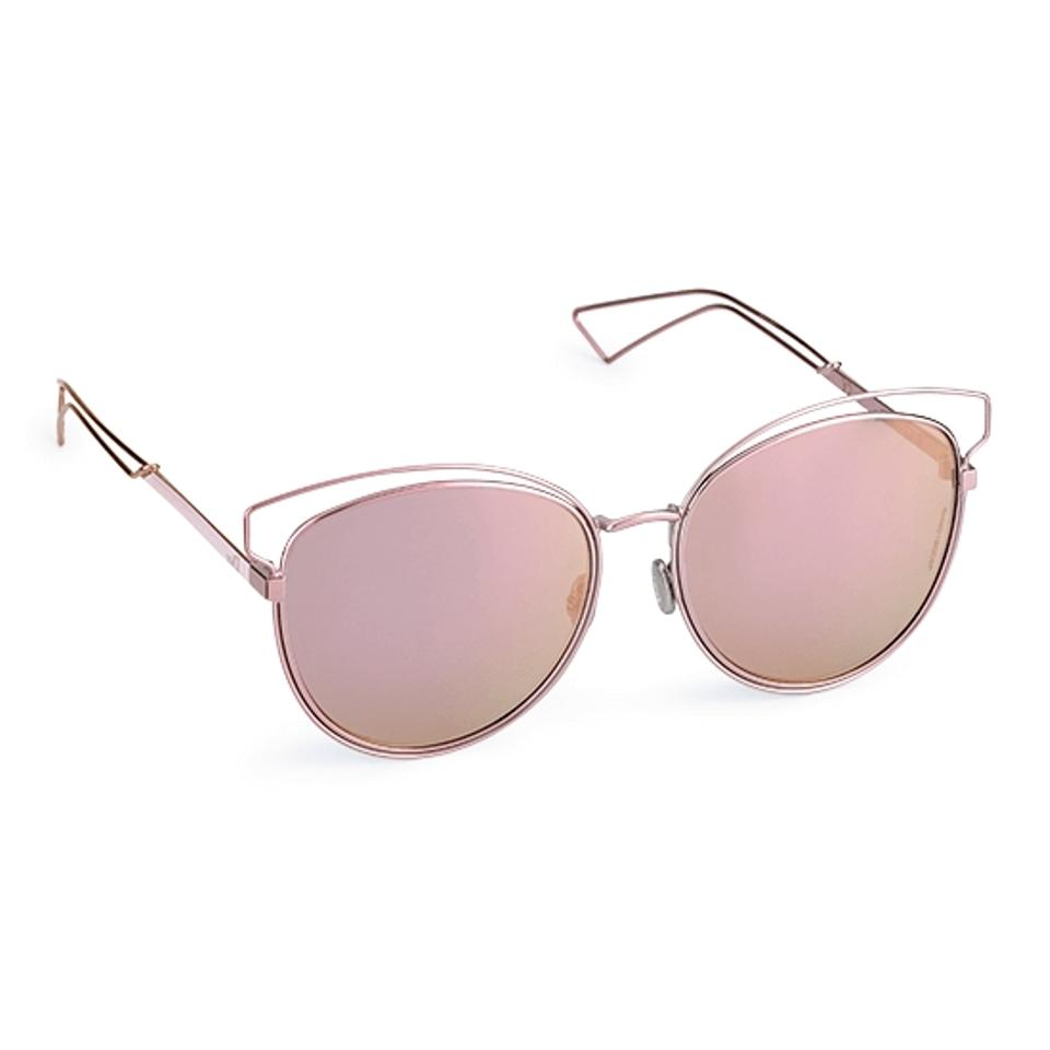 08e418ea373c Dior NEW Dior Sideral 2 Pink Mirrored Cutout Cat Eye Sunglasses Image 0 ...