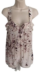 3.1 Phillip Lim Animal Print Lace Up Top White, Brown