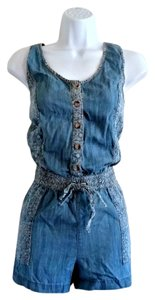 Other Denim Chambray Playsuit Paisley Dress