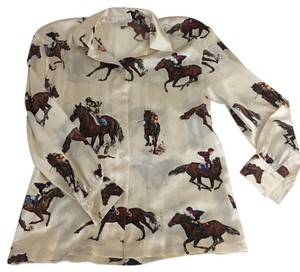 Escada Silk Horses Top
