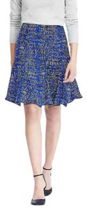 Banana Republic Blue Fully Lined Polyester Skirt Marina Blue