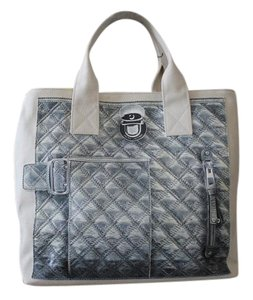 Marc Jacobs Canvas Tote in Silver