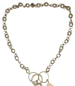 14k gold and diamond charm statement necklace