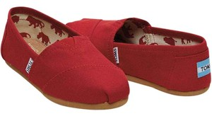 TOMS Canvas Classic Red Flats