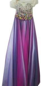 Night Moves Prom Collection Sequin Crystal Ball Gown Dress